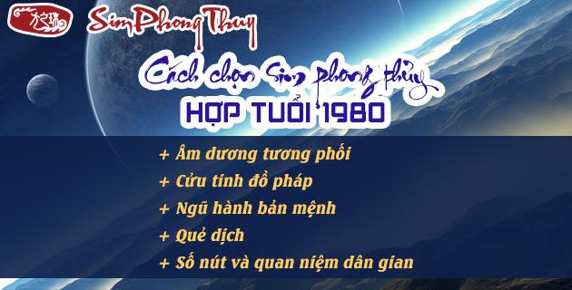 chon sim hop tuoi 1980 theo phong thuy